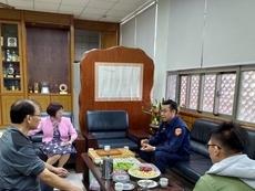 相關圖檔說明:竹東分局為加強轄內莘莘學子上放學的人身安全,圖片總數共2張