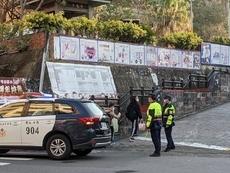 相關圖檔說明:新竹縣警橫山分局為學生上、下學安全把關,圖片總數共4張